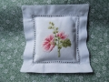 hand embroidery lavender bag